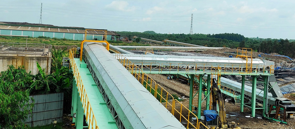 600m organic wastes conveying line in Vietnam